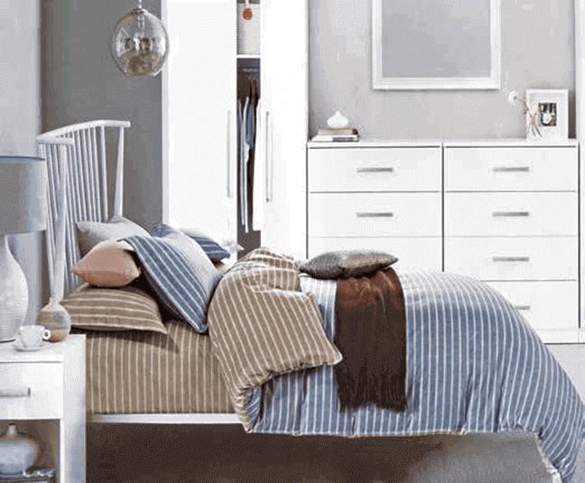 """תמונה של  מצעי כותנה """"אוריאן"""" - 197 חוט לאינץ!! מיטת יחיד 3 חלקים   B-2010"""