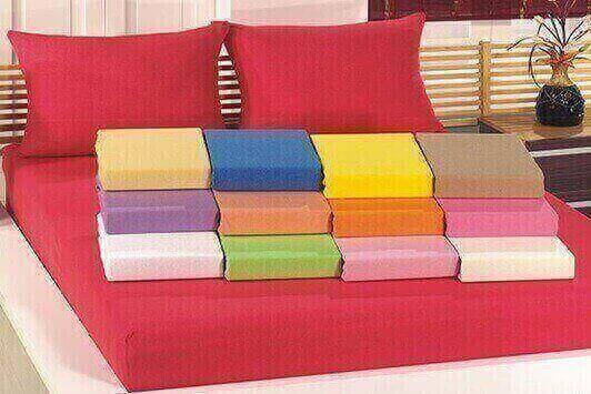תמונה של סט מצעי  ג'רסי 100% כותנה טריקו למיטה וחצי 2 חלקים צבעים מגוונים לבחירה