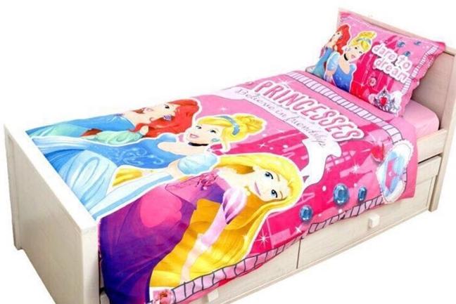 תמונה של מצעים למיטת יחיד דגם נסיכות מבד סאטן אל קמט