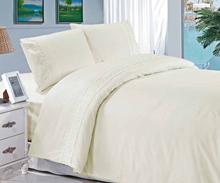 תמונה של סט למיטת זוגית  גלורי 100% כותנה פרנקל בשילוב תחרה