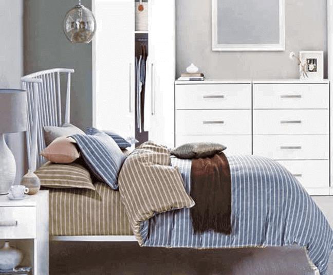 """תמונה של  מצעי כותנה """"אוריאן"""" - 197 חוט לאינץ!! מיטה זוגית 4 חלקים   B-2010"""