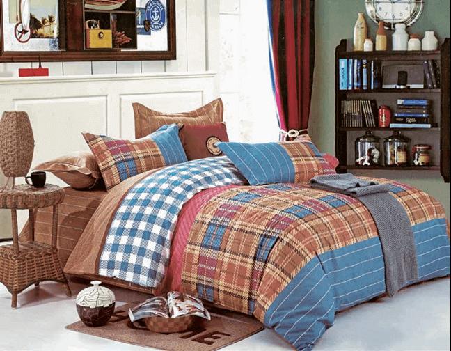 """תמונה של  מצעי כותנה """"אוריאן"""" - 197 חוט לאינץ!! מיטה זוגית 4 חלקים   B-2012"""