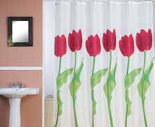 תמונה של וילון אמבטיה  FLOWERS במבחר גדלים