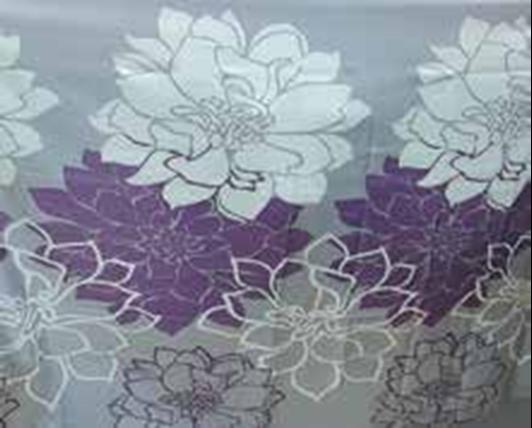 תמונה של וילון אמבטיה  פרח סגול במבחר גדלים