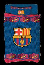 תמונה של סט מצעים מלא יחיד לוגו ברצלונה 100% כותנה