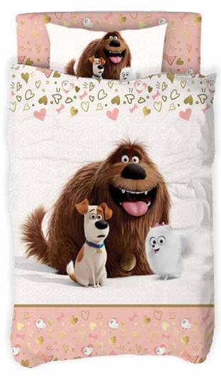 תמונה של סט מצעי כלבים בנות 100% כותנה