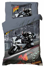 תמונה של סט ריאקטיב ילדים ונוער אל קמט 5D מיטה וחצי 3 חלקים   אופנועי מירוץ