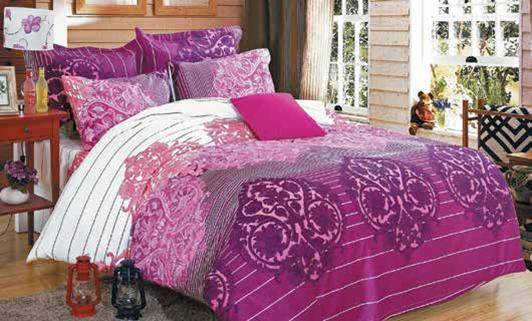 תמונה של סט ביוטי 100% כותנה מיטה זוגית 4 חלקים רחב | 2000