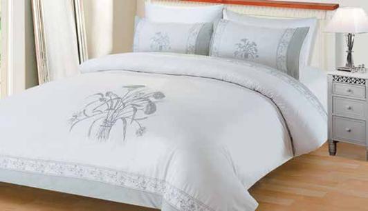 תמונה של מערכת קיץ ריאקטיב - סאטן אל קמט  מיטה זוגית 6 חלקים  |LORD RM1616-כסף