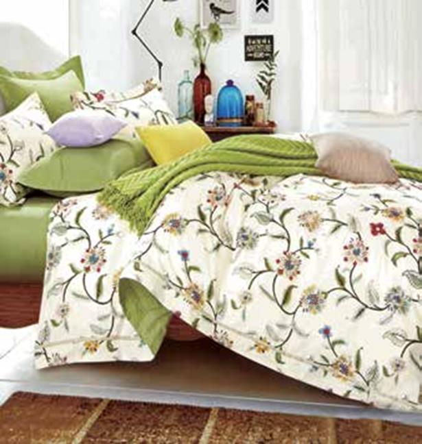תמונה של סט ביוטי 100% כותנה מיטה זוגית 4 חלקים רחב   2069